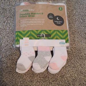 Baby Swaddle and Sock Bundle